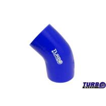 Szilikon szűkítő könyök TurboWorks Kék 45 fok 70-76mm